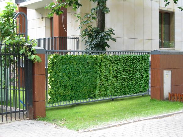 Listnaté umělé živé ploty v rolích
